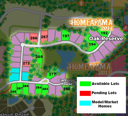Oak Reserve Map
